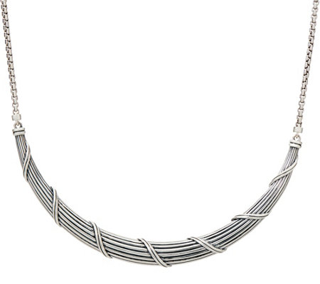 "Peter Thomas Roth Sterling Silver 20"" Collar Necklace, 35g"