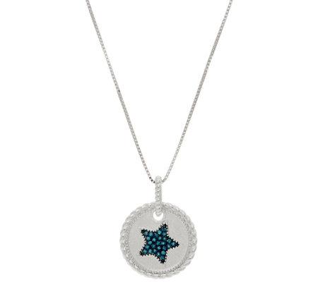 Diamond Motif Pendant w/ Chain, Sterling, by Affinity