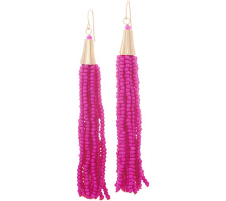 The Reese - Beaded Multi Strand Tassel Earrings