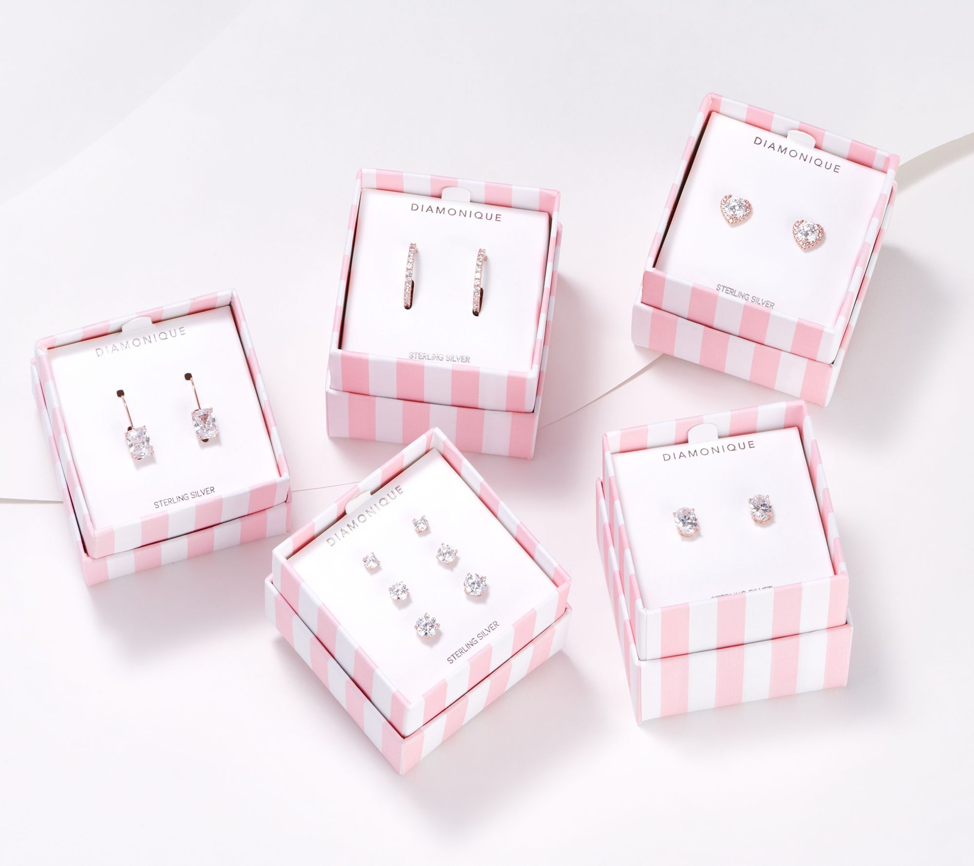 Set of 5 sterling silver earring gifts