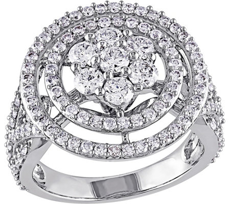 Diamond Floral Engagement Ring, 14K, 2 cttw, byAffinity