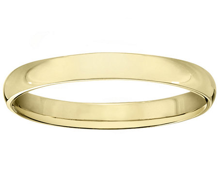 Men's 18K Yellow Gold 3mm High Polish Comfort Fit Wedding Band