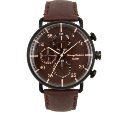 Tommy Bahama Puako Multifunction Brown Strap Watch