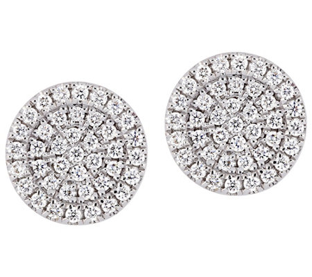 Affinity 14K 3/10 cttw Diamond Round Stud Earrings