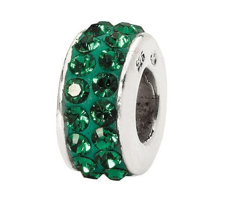 Prerogatives Dark Green Double Row Swarovski Crystal Bead
