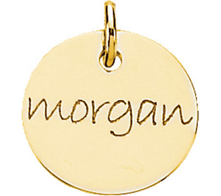 Posh Mommy 18K Gold-Plated Mini Disc Pendant