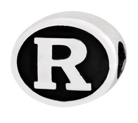 Sterling Silver Rutgers University Bead