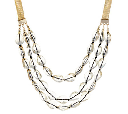 BaubleBar Crystal Beaded Layered Necklace