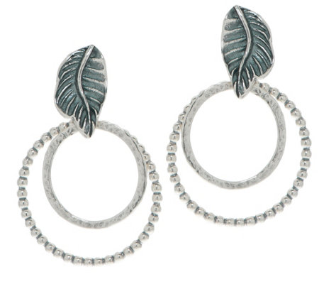 Or Paz Sterling Textured Double Circle Earrings
