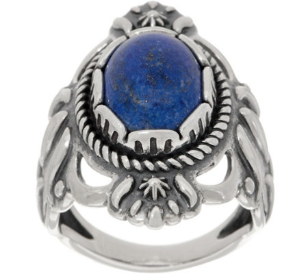 American West Oval Gemstone Sterling Silver Bold Ring