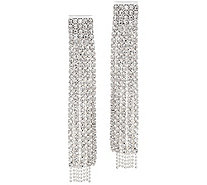 The Nicole - Sparkly Fringe Drop Earrings - J354873