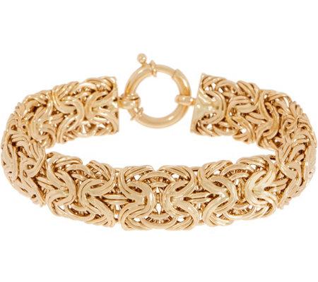 14k Gold 6 3 4 Bold Byzantine Bracelet 12 2g