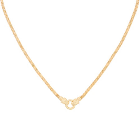 Italian Gold Panther Head Necklace 14k Gold 15 2g
