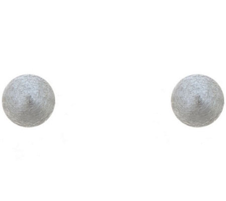 Sterling Silver 3mm Satin Finish Ball Stud Earring