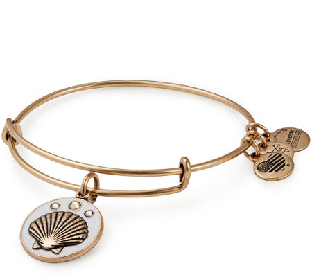Alex and Ani Sea Shell Color Infusion Charm Bangle