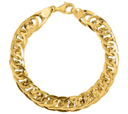 Italian Gold 14k Interlocking Curb Link Bracelet 6 4g