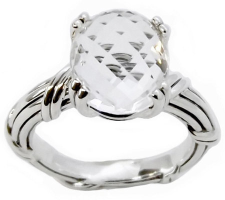 Peter Thomas Roth Sterling 4 80 Ct Oval Rock Crystal Ring