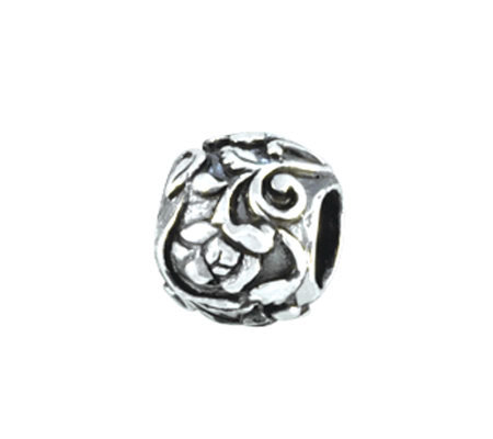 Prerogatives Sterling Rounded Floral Bead