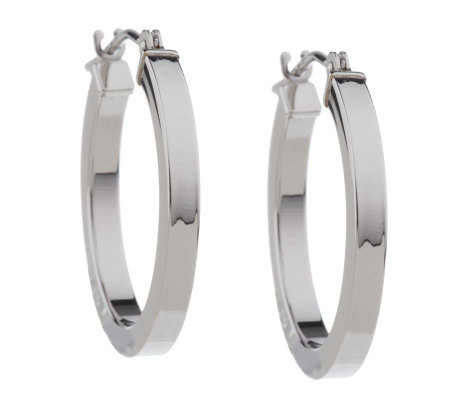 Eternagold 3 4 Square Hoop Earrings 14k White Gold