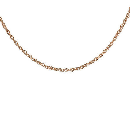 "20"" Diamond Cut Singapore Necklace, 14K Gold1.90g"