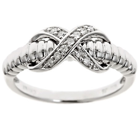 X-Design Diamond Ring, Sterling, 1/10cttw by Affinity