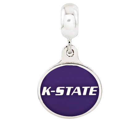 Sterling Silver Kansas State University DangleBead