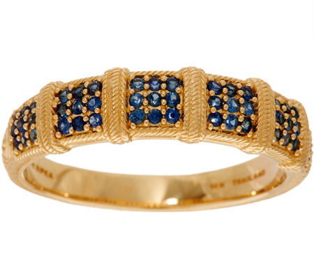 Judith Ripka 14K Gold 0.30 cttw Pave' Sapphire Band Ring