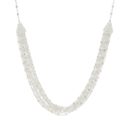 "Sterling 20"" Multi-Strand Station Necklace by Silver Style"