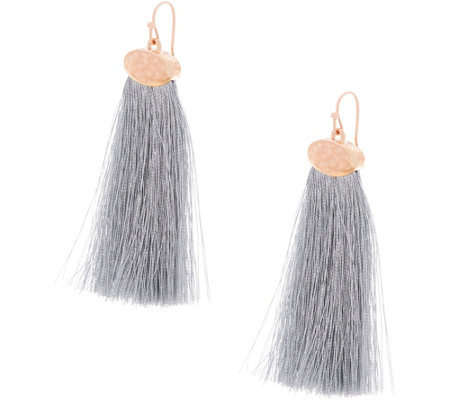 Havana Fan Tassel Earrings