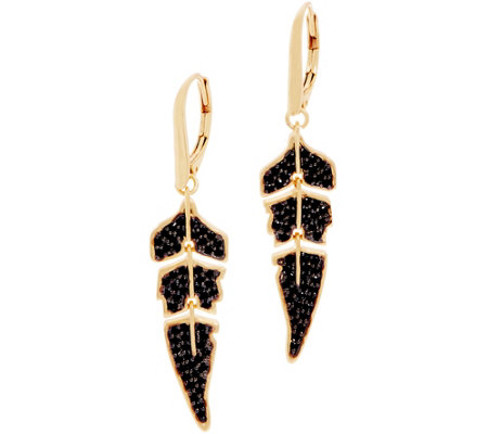 Melinda Maria Simulated Gemstone Feather Earring - Winslet