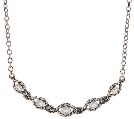 """As Is"" Carolyn Pollack Sterling Silver 7.20 cttw White Topaz Necklace"