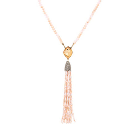 "Joan Rivers Crystal Tassel 29"" Necklace w/ 3"" Extender"