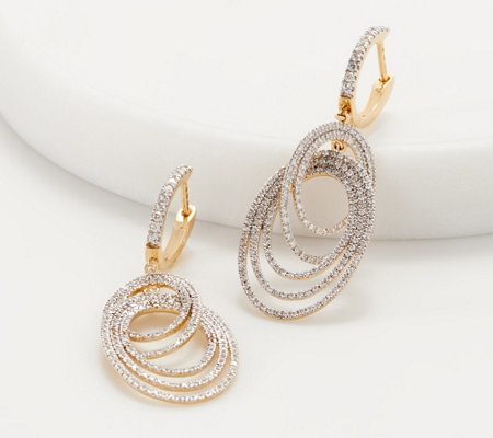 Affinity 14K Diamond Chandelier Earrings, 1.00 cttw