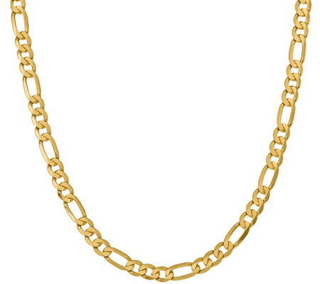 "14K Gold 22"" Figaro Necklace, 48.8g"