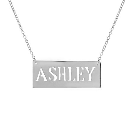 Sterling Personalized Block Letter Neckl ace