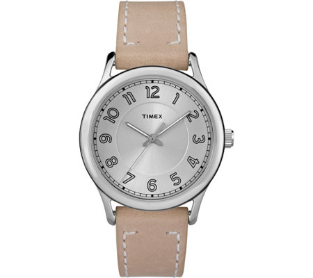 Timex Women's New England Tan Leather Strap Watch