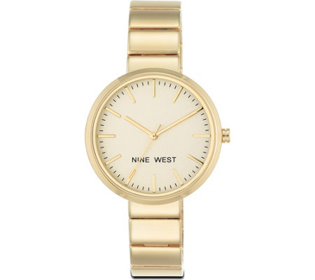 Nine West Ladies Goldtone Ettiah Bracelet Watch