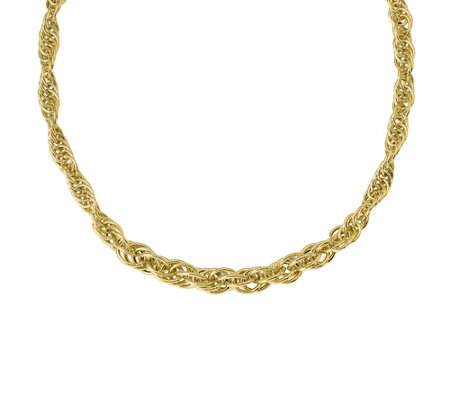 "Italian Gold 17"" Loose Twisted Link Necklace 14K, 13.2g"