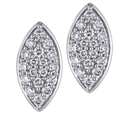 Affinity 14K 1/3 cttw Diamond Cluster MarquiseStud Earrings