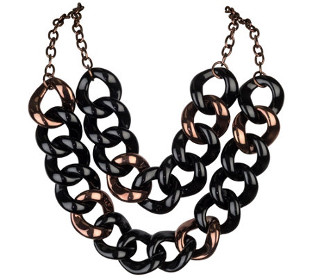 Linea by Louis Dell'Olio Double Chain Link Necklace