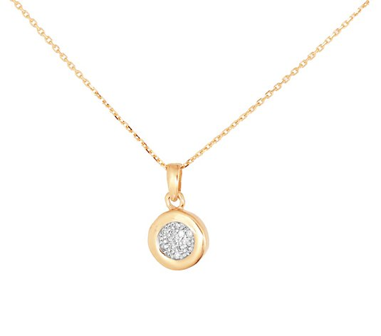 Adi Paz 14K Gold Diamond-Accent Round Pendant w/ Chain