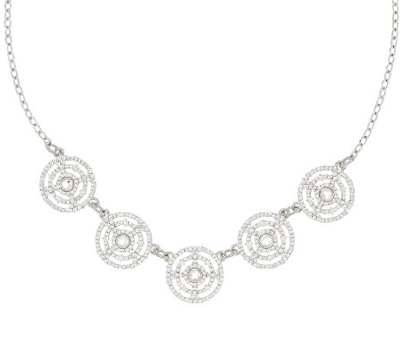 Judith Ripka Sterling 7.5ct Diamonique Garland Station Necklace