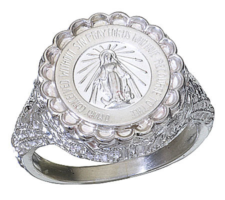 Sterling Miraculous Mary Ring