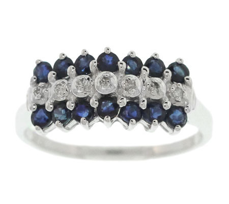 0.60 ct tw Sapphire & Diamond Accent Ring, 14KGold