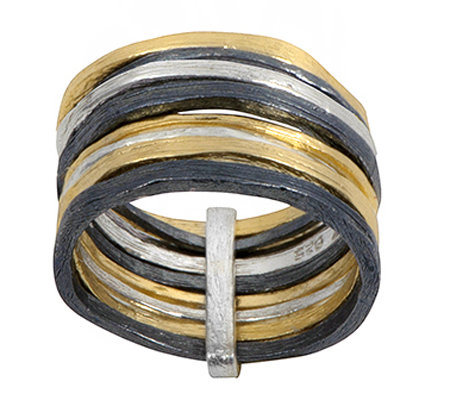 Or Paz Sterling Multi-Band Ring