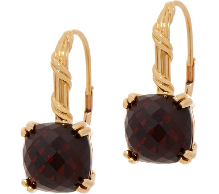 Peter Thomas Roth 18K Gold Garnet Leverback Earrings