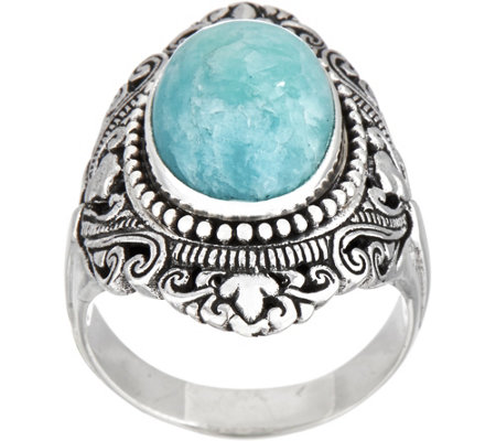 Artisan Crafted Sterling Silver Bold Cabochon Gemstone Ring