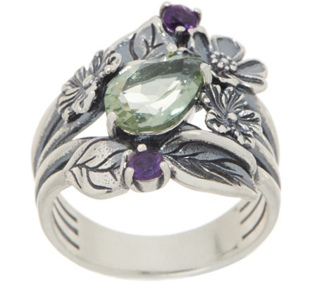 Or Paz Sterling 1.70 cttw Gemstone Floral Ring
