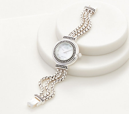 Ecclissi Sterling Silver Multi Strand Box Chain Watch