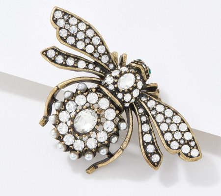 Joan Rivers Vintage Inspired Crystal Bee Pin